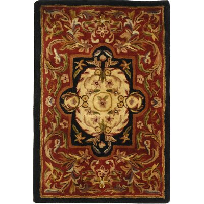 Classic Royal Red/Black Rug by Safavieh