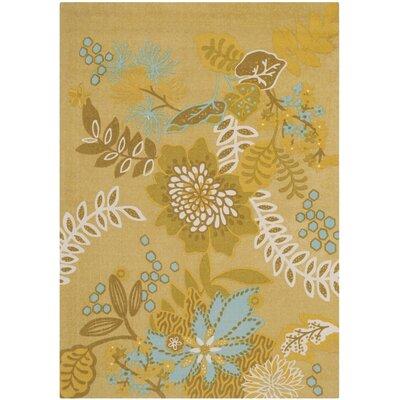 Cedar Brook Citron / Blue Floral Rug by Safavieh