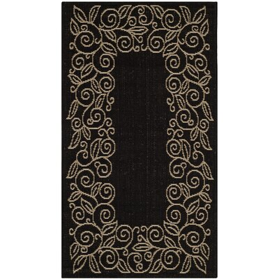 Safavieh Courtyard Black/Sand Outdoor Rug