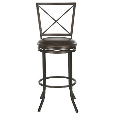 Pantin Swivel Bar Stool with Cushion by Safavieh