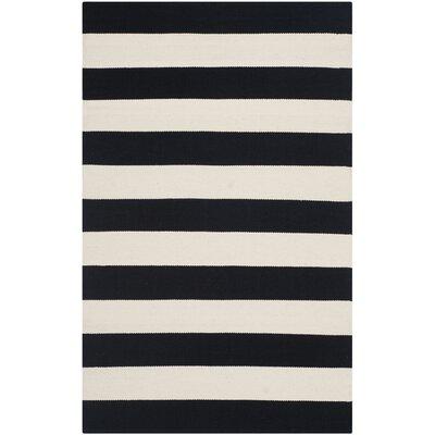 Safavieh Montauk Black & White Striped Contemporary Area Rug