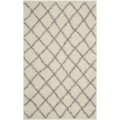 Dallas Shag Ivory / Grey Area Rug by Safavieh