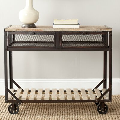 Shroder Rolling Console Table by Safavieh