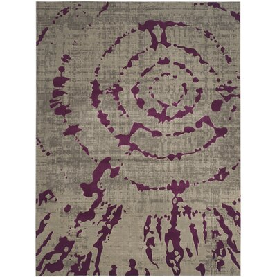 Porcello Light Grey / Purple Area Rug by Safavieh
