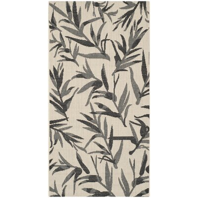 Courtyard Beige/Anthracite Area Rug by Safavieh