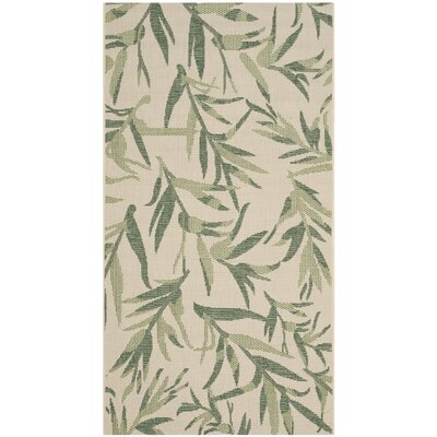 Courtyard Beige/Sweet Pea Area Rug by Safavieh