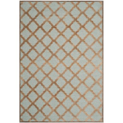 Paradise Mouse / Aqua Area Rug by Safavieh