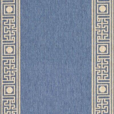 Safavieh Courtyard Blue/Beige Outdoor Rug