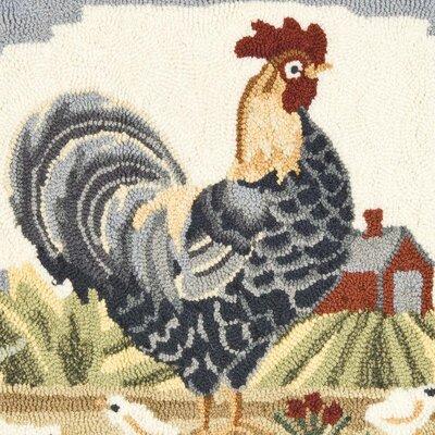 Safavieh DuraRug Blue Rooster Area Rug