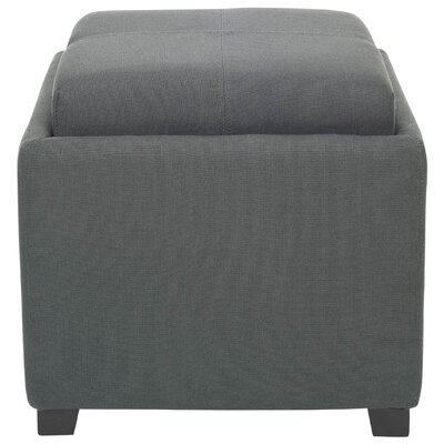Carter Upholstered Storage Ottoman by Safavieh