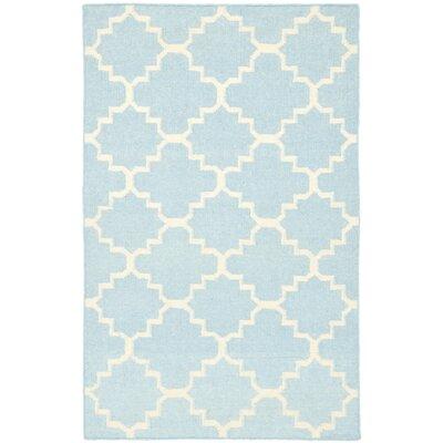 Safavieh Dhurries Light Blue & Ivory Area Rug