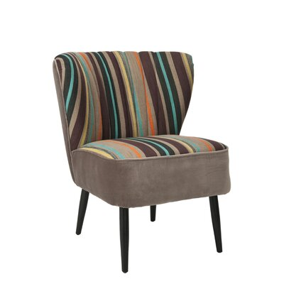 Safavieh Felicity Striped Fabric Slipper Chair Amp Reviews