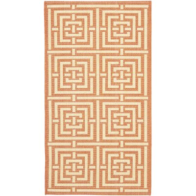 Safavieh Courtyard Abstract Terracotta Rug