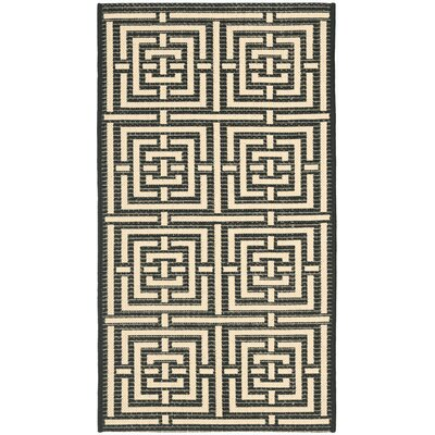 Courtyard Abstract Black Area Rug by Safavieh