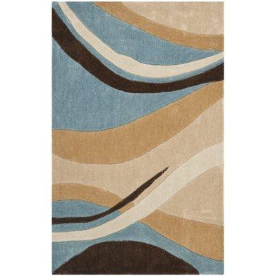 Modern Art Blue/Brown Rug by Safavieh