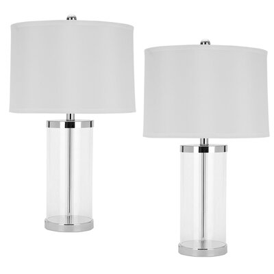 """Safavieh Melody 25.5"""" H Table Lamp with Drum Shade"""