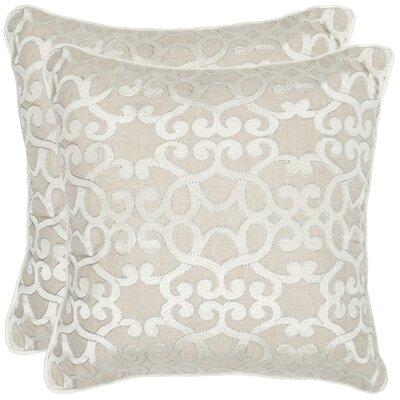 Madison Linen Throw Pillow by Safavieh