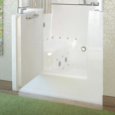 "Mesa 40"" x 31"" Whirlpool & Air Jetted Bathtub Product Photo"