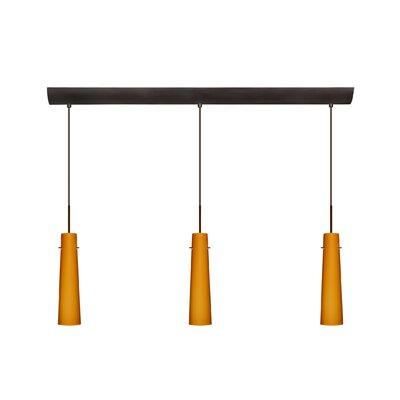 Besa Lighting Camino 3 Light Pendant with Bar Canopy
