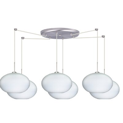 Pape 6 Light Globe Pendant by Besa Lighting