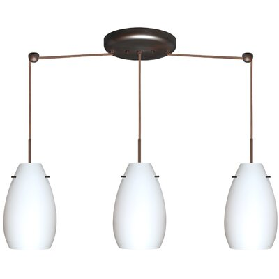 Besa Lighting Pera 3 Light Linear Pendant