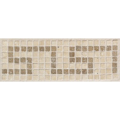 """Mohawk Flooring Artistic Accent Statements 12"""" x 4"""" Greek Key Decorative Border in Sand/Walnut"""