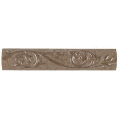 """Mohawk Flooring Natural Pavin Stone 10"""" x 2"""" Decorative Accent Strip in Brown Suede"""