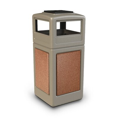 Commercial Zone StoneTec Series 42-Gal Panel with Ashtray Dome Lid