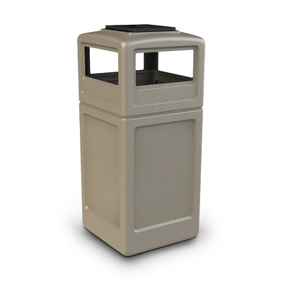 Commercial Zone 42-Gal Square Waste Container with Ashtray Dome Lid
