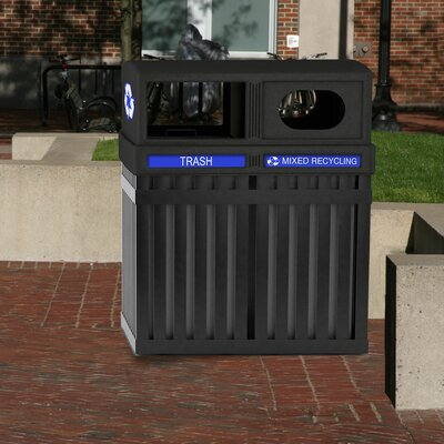 Commercial Zone ArchTec Series 50-Gal Parkview Multi Compartment Recycling Bin