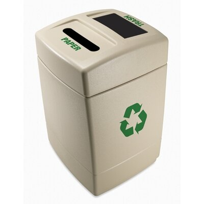 Commercial Zone Green Zone 55-Gal Multi Compartment Recycling Bin