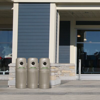 Commercial Zone Green Zone 30-Gal LitterMate Industrial Recycling Bin
