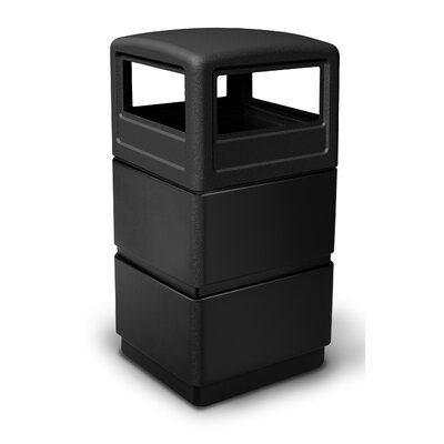 Commercial Zone PolyTec 38-Gal 3-Tier Waste Container with Dome Lid