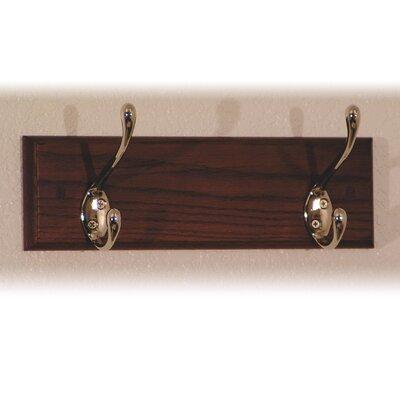 Wooden Mallet Coat Rack with 2 Hooks