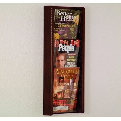 Wooden Mallet 3 Pocket Wall Display