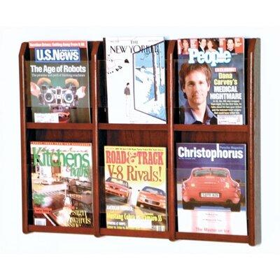 Wooden Mallet 6 Pocket Magazine Wall Display