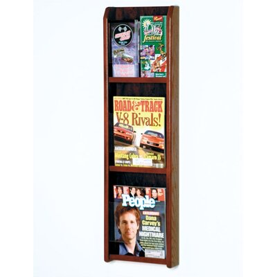 Wooden Mallet 3 Magazine / 6 Brochure Wall Display