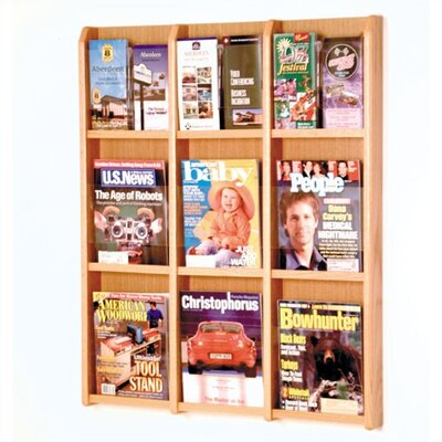 Wooden Mallet 9 Magazine / 18 Brochure Wall Display