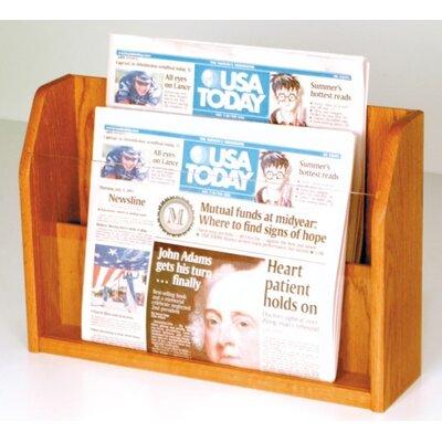 Wooden Mallet Countertop 2 Pocket Newspaper Display