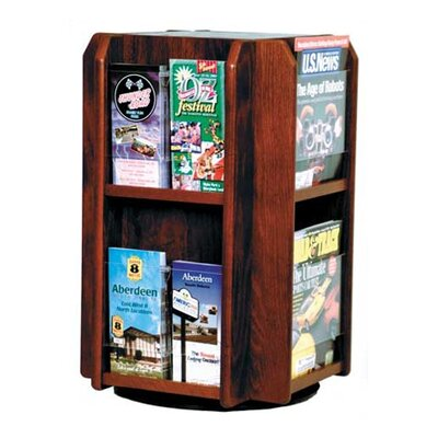 Wooden Mallet Countertop 8 Pocket Rotary Display