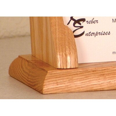 Wooden Mallet Six Pocket Counter Top Business Card Holder