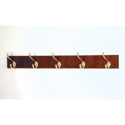 Wooden Mallet Coat Rack with 5 Hooks