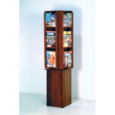 Wooden Mallet 12 Pocket Free Standing Rotary Display