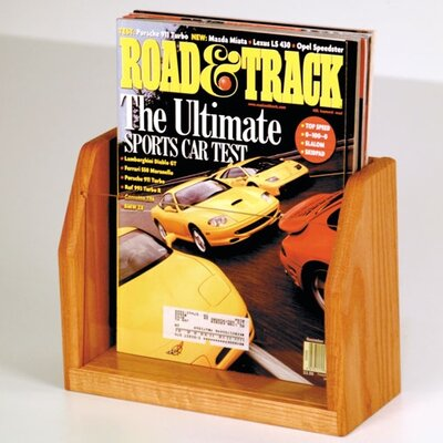 Wooden Mallet Countertop Single Pocket Magazine Display