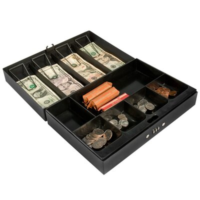 Barska Cash Box and 6 Compartment Tray with Money Clip