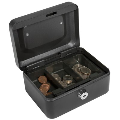 Barska Extra Small Black Cash Box with Key Lock