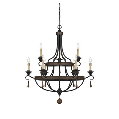Kelsey 9 Light Candle Chandelier by Savoy House