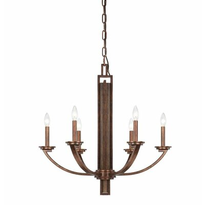 Saitama 6 Light Candle Chandelier by Savoy House