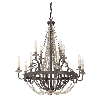 Mallory 12 Light Candle Chandelier by Savoy House