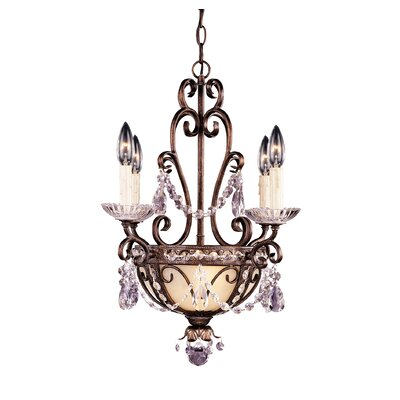 6 Light Mini Chandelier with Accent Product Photo